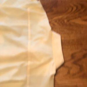 Foxcroft Tops - Pale yellow, oxford-style shirt, EUC, size 12